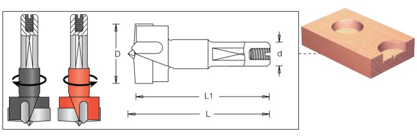 Сверло чашечное левое для присадочного станка DIMAR 2031087