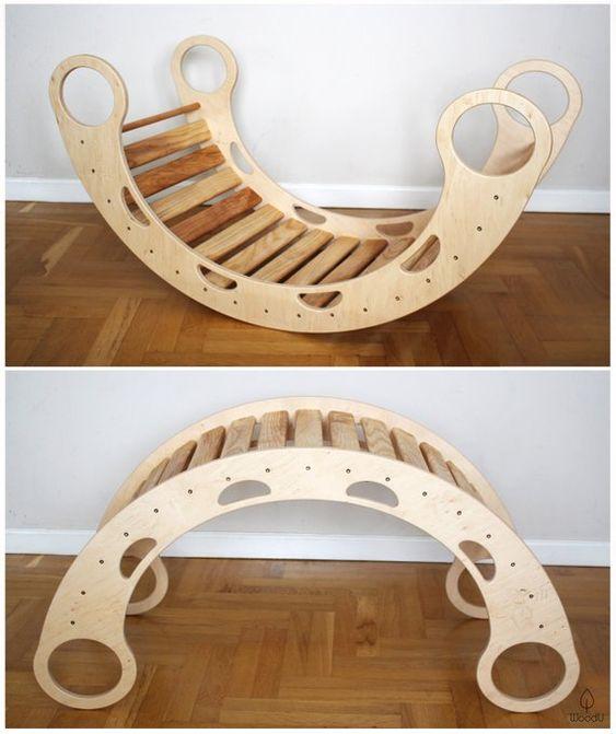 детская качалка - мостик