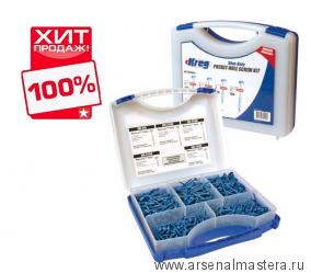 ХИТ! Набор саморезов Blue-Kote Kreg 450 шт для Kreg Jig в пластиковом боксе SK03В