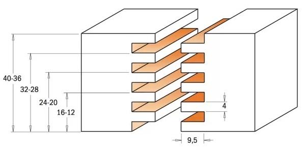 CMT 900.616.11 Фреза концевая сращивания D 47,6 S 12