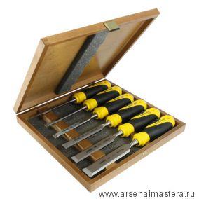 SALE Набор из 6 столярных стамесок NAREX Super 2009 Line Profi плоских в деревянном ящике (6, 10, 12, 16, 20, 26 мм) 852900