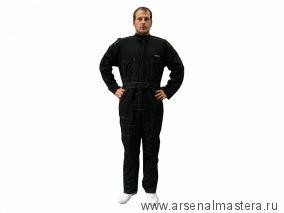 Защитный комбинезон MIRKA размер XXL, полиэстер/карбон, черный COVERALL-XXL
