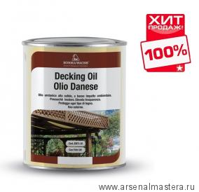 ХИТ! Масло датское Borma Decking Oil 1л для террас Темный орех 4971-IL-632