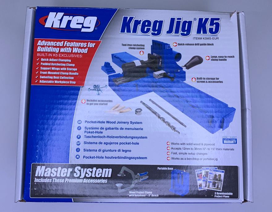 Отзыв на Комплект для соединения саморезами Kreg Jig K5 Master System K5MS-EUR