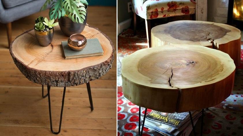 журнальные столики из спила дерева 2019