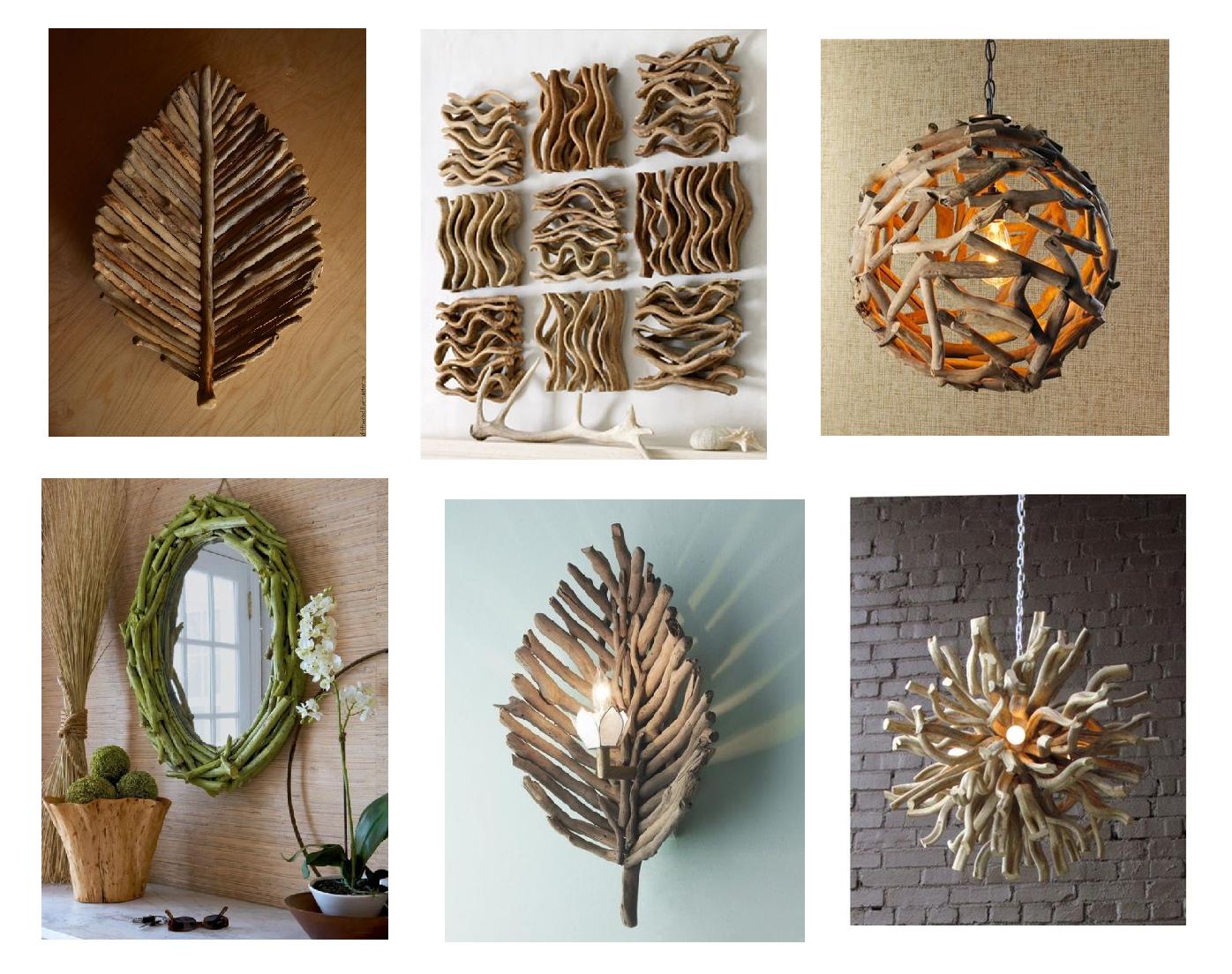 Фото идеи использования веток и коряг, чтобы по-новому взглянуть на старую древесину: