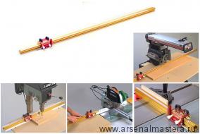 Алюминевый профиль TRACK 1320 мм  INCRA Track с ограничителем INCRA Shop Stop TRACKSYS52