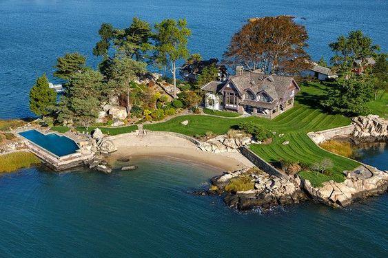 На фото ниже владельцы дома на Норволкских островах живут в резиденции круглый год
