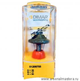 Фреза Dimar по гипсокартону  под впитывающий клей D35 B17 d12 мм паз 90гр 51209755