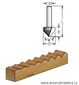 Фреза канавочная V-образная 19x16x54x12 Угол  WPW 90 V901902