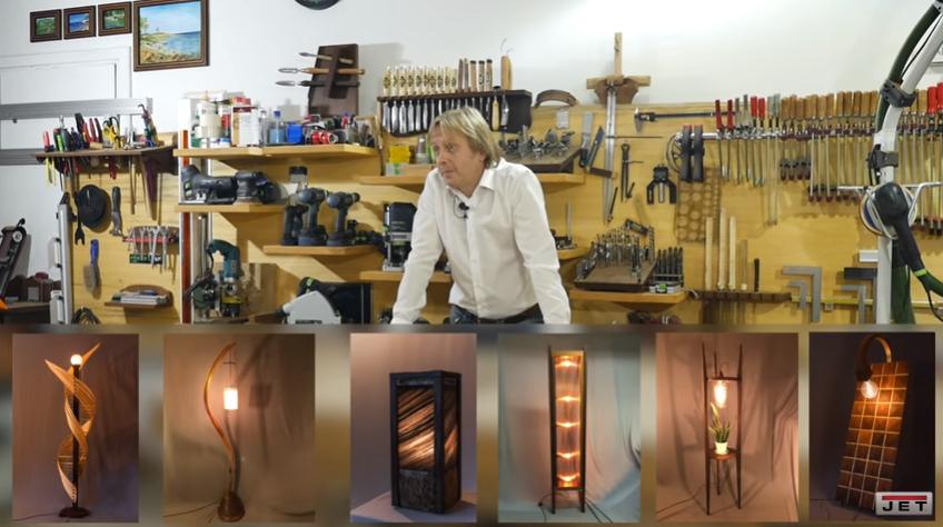 Последнее время Сергей Саблин увлекся изготовлением авторских светильников