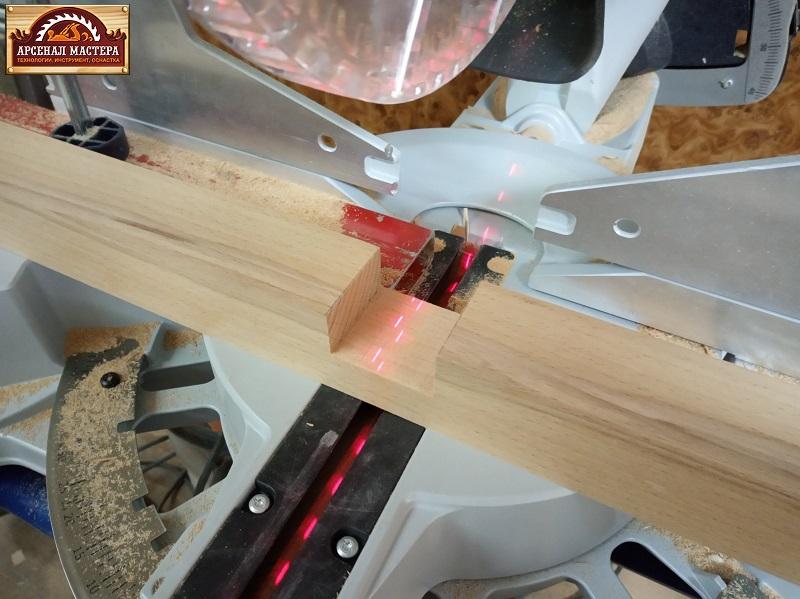 estool Kapex 120  для соединения в пол дерева,  да на этой торцовке есть фиксатор опускания диска, можно регулировать высоту пропила
