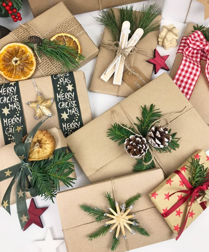 Вся упаковка для новогоднего подарка может быть у Вас под рукой