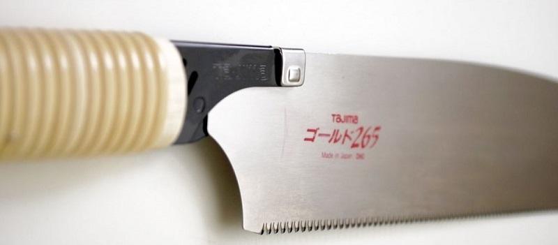 фото Ручная пила TAJIMA с прямой ротанговой ручкой Japan Pull JPR265C-1