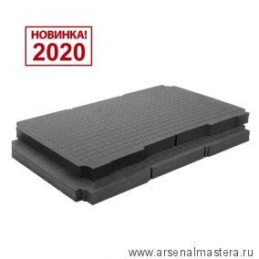 Вставка комплект 2 шт. поролоновая SE-VAR SYS3 L/2 Festool для систейнера 3 L 204946 Новинка 2020 года!