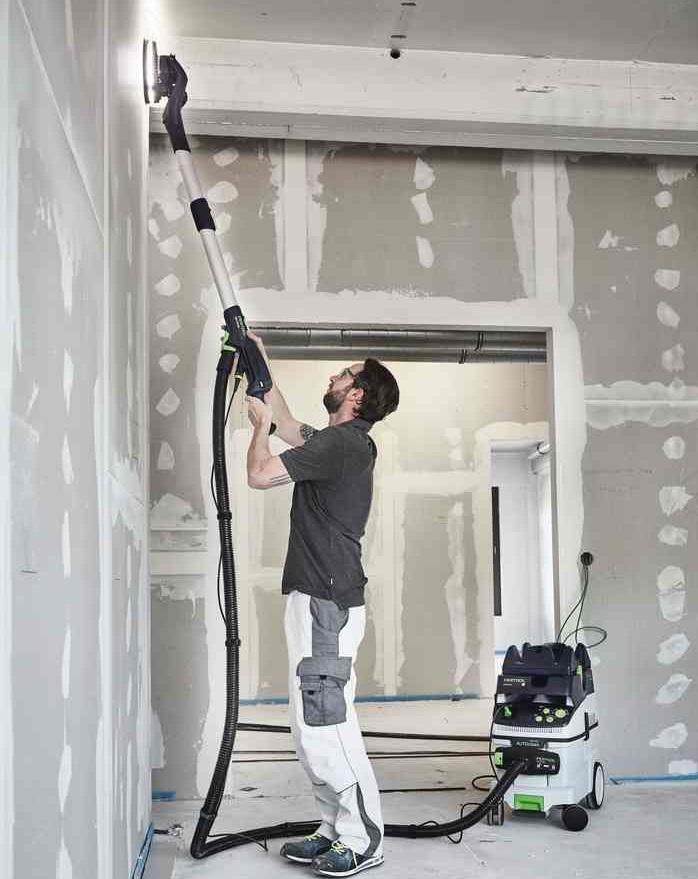 шлифование стен в узких простенках