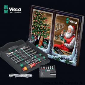Wera Advent 2021 Рождественский / Новогодний набор инструментов 24 предмета подарочный WE-05136602001